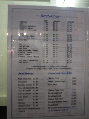 オックスフォード市場のカフェ メニュー2