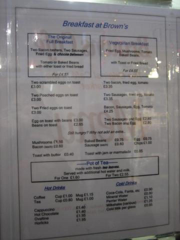 オックスフォード市場のカフェ メニュー3