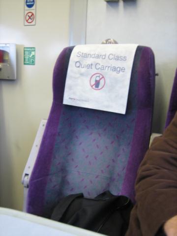 イギリス電車 静かなところ