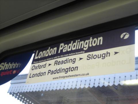 オックスフォードからの電車