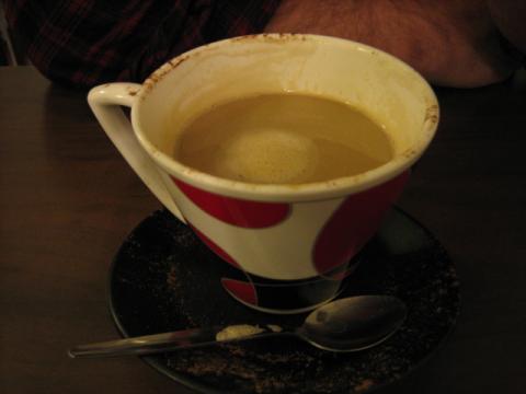 ヨークのコーヒーカップ