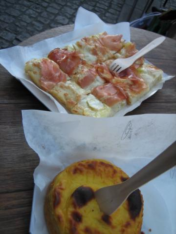 ピザとケーキ