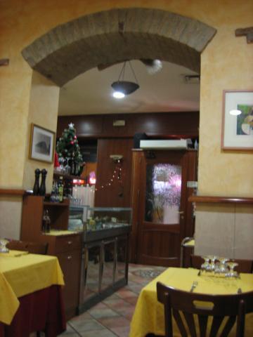 イタリアンレストラン中