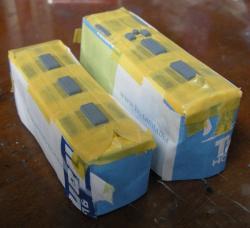 前面・側面は、紙袋の一部を使用してマスキング