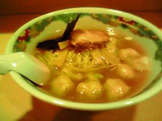 海老塩ワンタン麺@八島