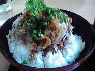 和風ハンバーグ丼@津々井