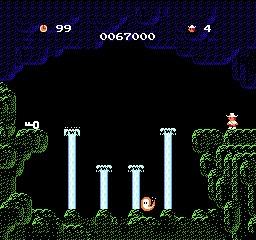 ジャンプの難しい洞窟と幽霊さん