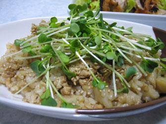 こうちゃんの簡単料理より レンコンとそぼろの甘辛混ぜご飯