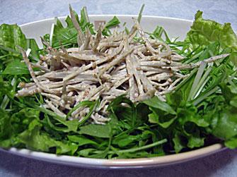 簡単節約レシピ 健康サラダ ごぼうサラダ