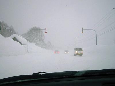 吹雪の予兆