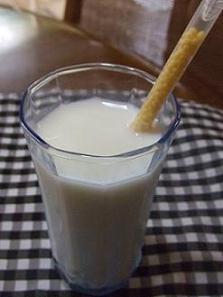 ばななの牛乳