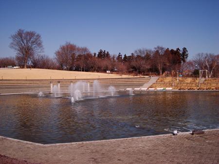 園内の噴水