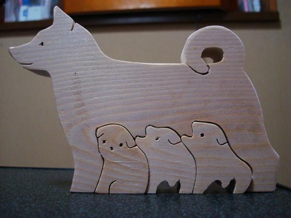 犬の組み木