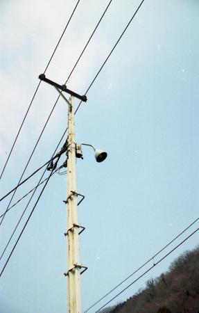 線路柱の外灯