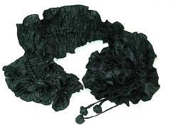 コサージュスカーフ 黒(80)×黒(80)