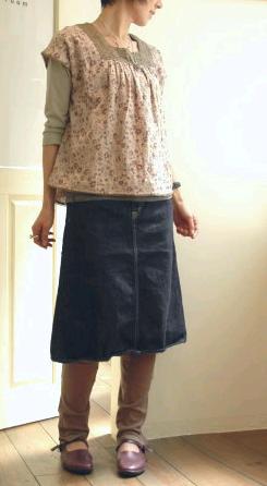 5ポケット Aラインスカート