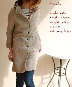 cotton quilt hooded coat