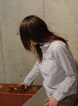 綿麻オックス p.o shirts