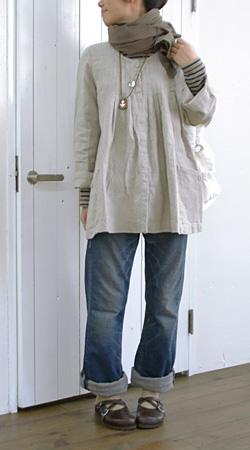 リネンタックロングジャケット