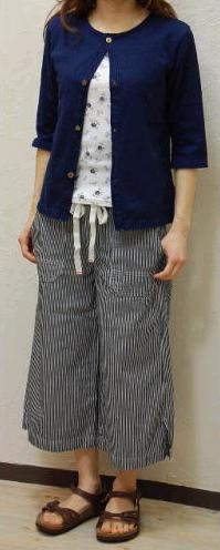 ヒッコリー8分丈パンツ