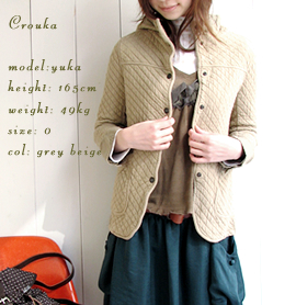 cotton quilt hooded jkt
