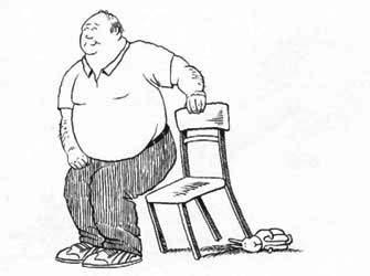 椅子の足の下に潜り込む