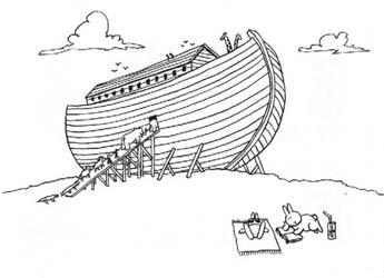 ノアの箱舟に乗らない・・・、これは自殺じゃないだろう。