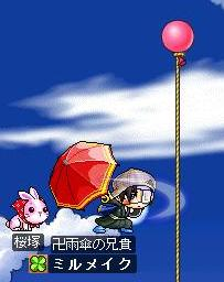 切り上げ傘