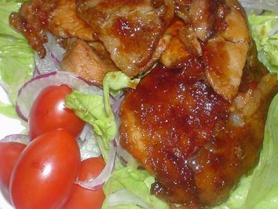 豚肉の香酢(黒酢)餡かけ