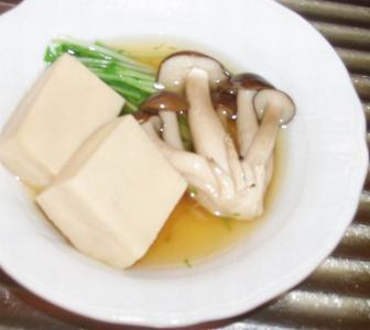 荒野豆腐の煮浸し