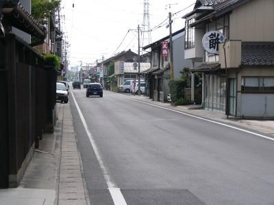 大津町の道