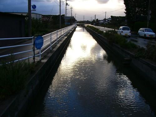 夕方の高瀬川
