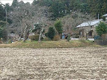 仏島山古墳遠景