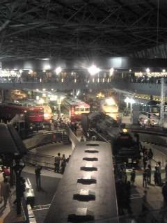 鉄道博物館内