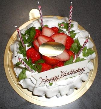 Chrisさんケーキ