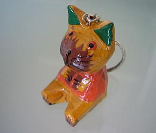 猫のキーホルダー