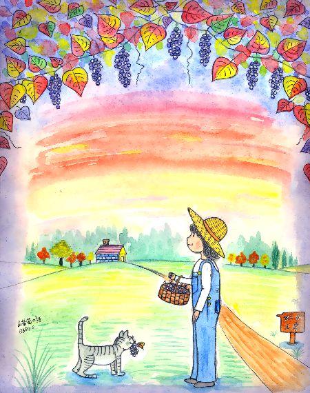 黒澤はるお ブログ童話館アートメルヘン ペディアと猫のペトロ 山葡萄の詩