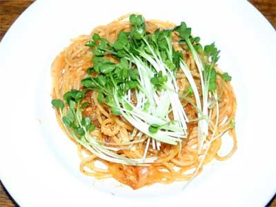 さばとトマトのスパゲティ